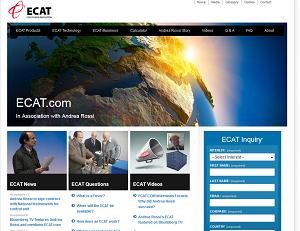 Screenshot of ECAT website, captured on Nov 19, 2011